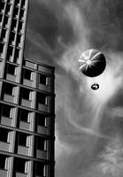 Balloon over Potsdamer Platz in Berlin