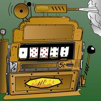 Steampunk Self Dealing Poker Reel Machine