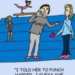 """Coach Punch"" by gymnasticscartoons"