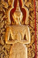 Thai style door Buddha carving