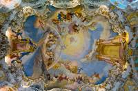 World heritage wall and ceiling frescoes
