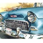 """55 Chevy with border"" by WillyDaleArt"