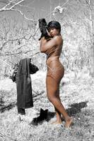 Beautiful Nude Woman in Infra-red Forest