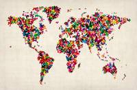 Butterflies Map of the World Map