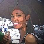 """Di Copy 1(girl with udark umbrella)"" by Paulsjulien"