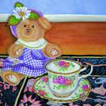 """Teddy Bear Tea Party"" by artofsarahcyr"