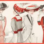 """Ladies In Red 1910"" by DelightfulTrifles"