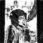 """Jimi Hendrix - 27 Club Series 2"" by NateWilliams"