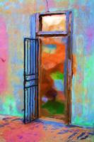 Painted Iron Door