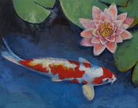 Koi and Water Lily