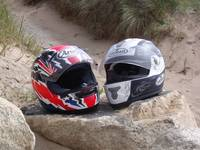 Helmets on Rocks
