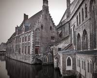 Church on a Canal Bruge