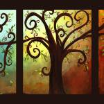 """Curly Tree Triptych"" by creativemoods"