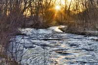 Sunrise On The St Vrain River