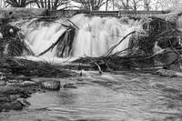 St Vrain Waterfall Slow Flow BW