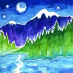 """""""Moonlight Lake"""" by SusanFaye"""