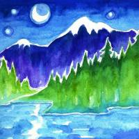 """Moonlight Lake"" by Susan Faye"