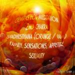 """Chakra Colors for Meditation Svadhisthana Orange"" by newdigitalscapes"