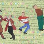 """HAPPY BIRTHDAY MUSICIANS"" by ARTCREATIONSBYOLGA"