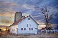 White Barn Sunrise