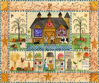 Our Daly Bread Folk Art Sampler Original Design