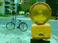 Warning Light and Bicycle