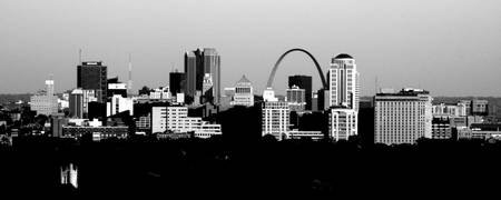 St. Louis Skyline BW 2