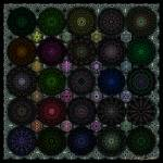 """Rose Window Kaleidoscope Quilt"" by AnnStretton"