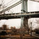 """The Manhattan Bridge from park in Dumbo"" by dennisherzog"