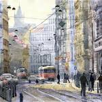 """Prague Vodickova str"" by shevchukart"