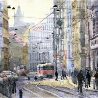 Prague Vodickova str Art Prints & Posters by Yuriy Shevchuk