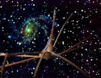 Arrow Crab and Spiral Galaxy