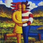 """The Lovers impasto"" by alankenny"