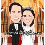 """Military Navy Wedding Caricature- Caricatures From"" by caricatures-from-photos"