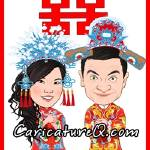 """Traditional Chinese Wedding- Caricatures From Phot"" by caricatures-from-photos"