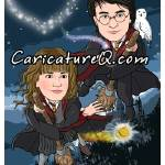 """Excited for Harry Potter caricature caricatures ""c"" by caricatures-from-photos"