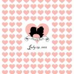 """""""hearts_16x20"""" by Simplysilhouettes"""