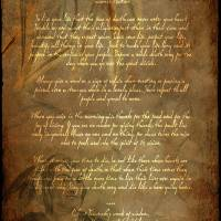 """Framed Prints Tecumseh Poem - Act of Valor Movie"" by WaynePhotoGuy"
