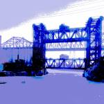 """Calumet River Bridges From 95th Street"" by LeonSarantosArtist"