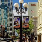 """San Diego Gaslamp Quarter & Lampost Sign CityScape"" by kphotos"