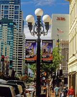 San Diego Gaslamp Quarter & Lampost Sign CityScape