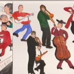 """JAZZ MUSICIANS FULL BAND"" by ARTCREATIONSBYOLGA"