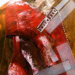 """red lamp transformation,oil,mm on canvas"" by Evgueniamen"