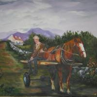 Paddys Horse and Cart Art Prints & Posters by Garrett Anthony Scanlan