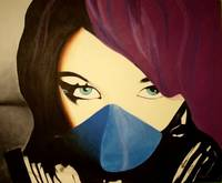 Painting - Alaina Beaton aka Porcelain Black
