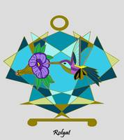 Art Deco Hummingbird One