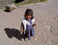 Quechuan Girl in Pisac, Peru