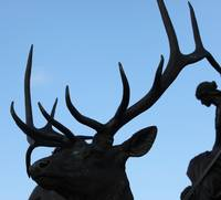 Antlers and Woman