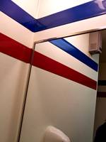 Mirror with Red and Blue Stripes