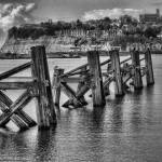 """Out over the Bay dark mono"" by StevePurnell"